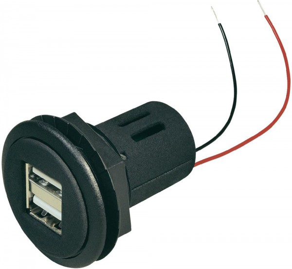 Doppelsteckdose Power USB 12 - 24 V DC